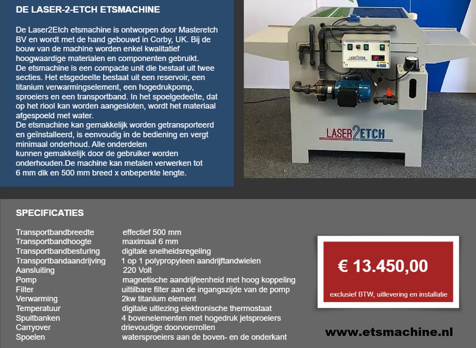 Laser2etch machine